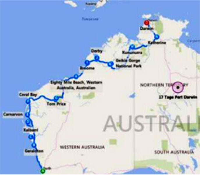 18 Days Perth to Darwin Tour