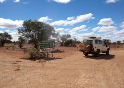 Beginn oder Ende des Gunbarrel Highways