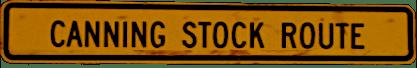 Canning Stock Route Wegweiser