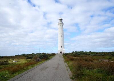 Der historische Leuchtturm von Cape Leeuwin - in der Nähe von Augusta