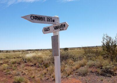 Historische Zeichen - Gunbarrel Highway