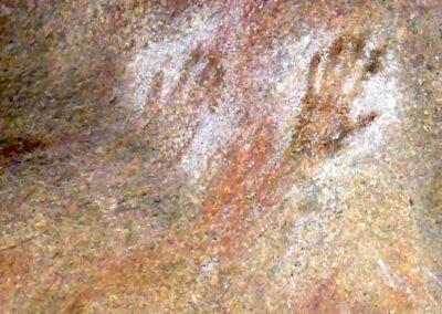 Mulka's Cave mit seiner erstaunlichen Felskunst der Aborigines - The Humps in der Nähe von Wave Rock