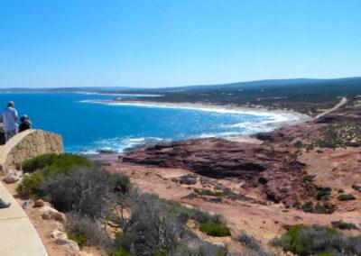 Red Bluff mit Blick auf einen Teil der Coral Coast - Kalbarri NP