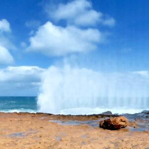 Wilde Küste bei Carnavon am Indischen Ozean
